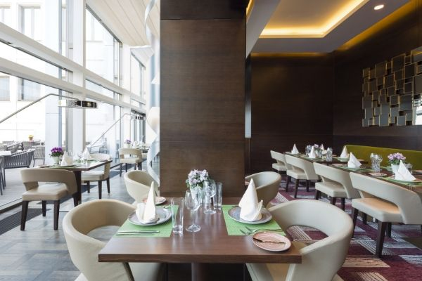 Clean Restaurant floor is cleaned by restaurant cleaning company