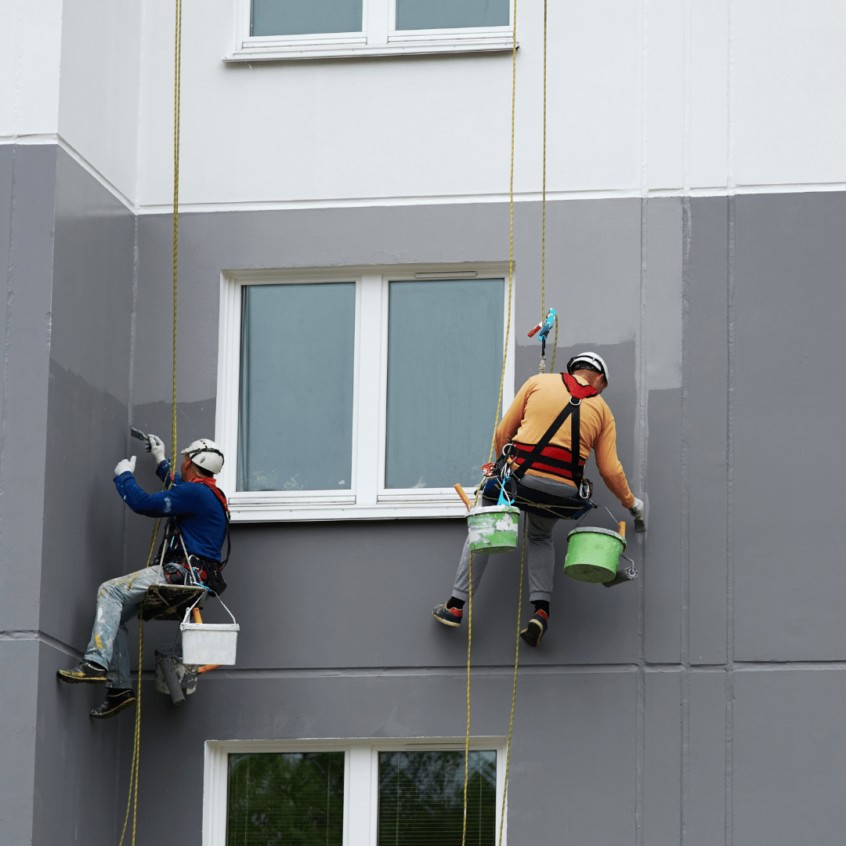 visual image of window cleaning